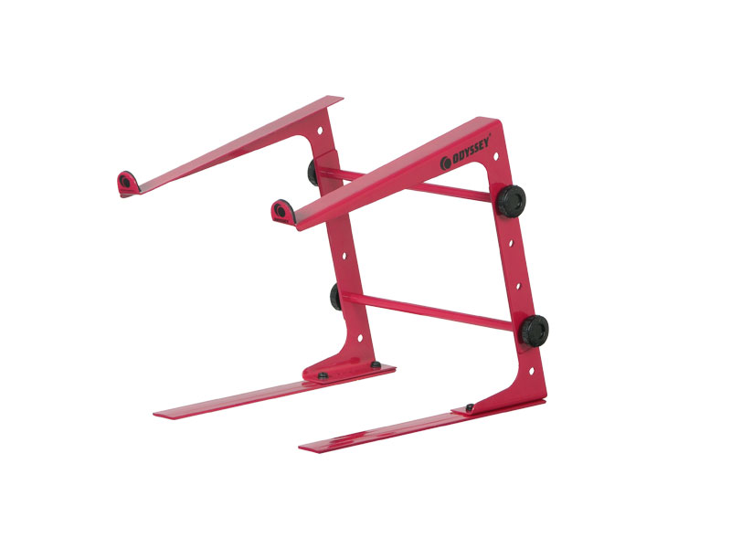 New! Odyssey LSTANDS Adjustable Stand-Alone Tabletop Laptop Pro DJ Stand Red by Odyssey Case