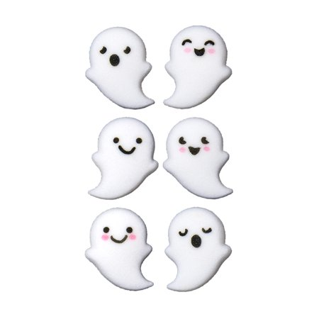 Ghost buddies Assortment Sugar Decorations Toppers Cupcake Cake Cookies Birthday Halloween Favors Party 12 Count