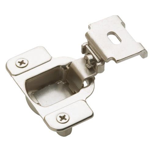 1-1/4 in (32 mm) Overlay Matrix Concealed Nickel Hinge - 2 Pack