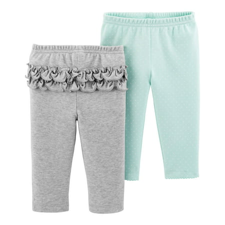 Child Of Mine By Carter's Pants, 2-pack (Baby Girls)