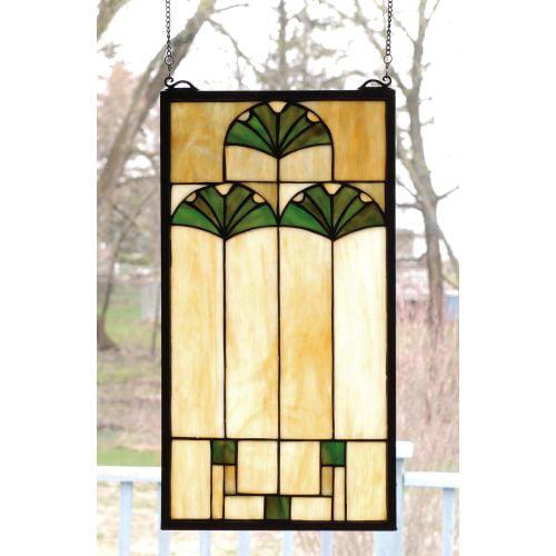 Meyda Tiffany 67787 Stained Glass Tiffany Window from the Ginko Collection by Meyda Tiffany
