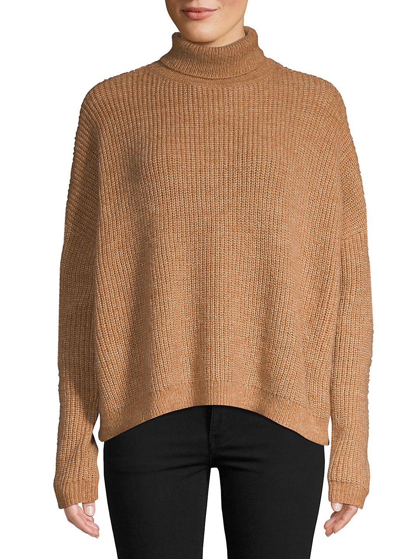 Ridged High Neck Sweater