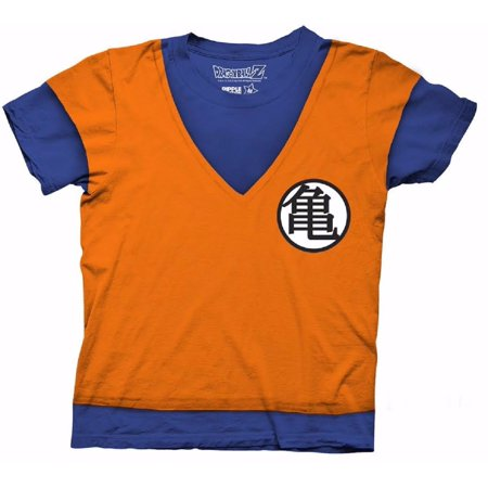 Dragon Ball Z Goku Uniform Costume Cosplay DBZ Officially Licensed Adult Shirt
