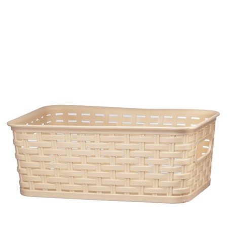 Nua Gifts 413 - LB Small Rattan Storage Basket  11.38 x 7.38 x 4.25 in. - Light Brown - image 1 of 1