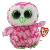 c2e01832fc8 Product Image TY Beanie Boos - BUBBLY the Pink   Green Owl (Glitter Eyes)  (Regular