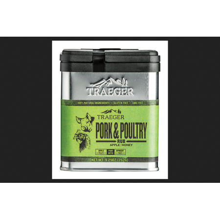- Traeger Apple and Honey Pork and Poultry Rub 9.25 oz.