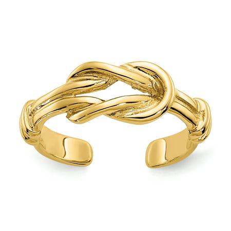 14K Yellow Gold Love Knot Toe Ring - image 1 de 2