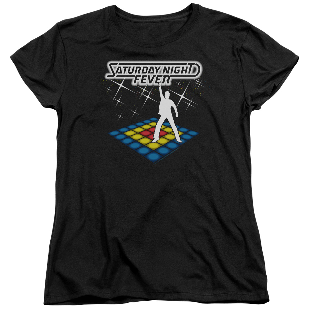 Saturday Night Fever Should Be Dancing Womens Short Sleeve Shirt