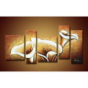 The Lighting Store 'Flowers' Oversized Hand-painted Oil on Canvas Art Set