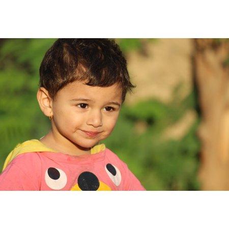 LAMINATED POSTER Children Girl Cute Iraq Kid Sunshine Face Small Poster Print 24 x (Small Sun Face Wall)