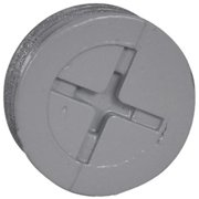 Hubbell Electrical PT-50-AL 0.5 in. Closure Plug, 3 Pack, Gray