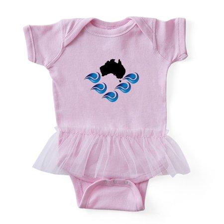 CafePress - AUSTRALIAN - Cute Infant Baby Tutu Bodysuit - Skeleton Onesie Australia