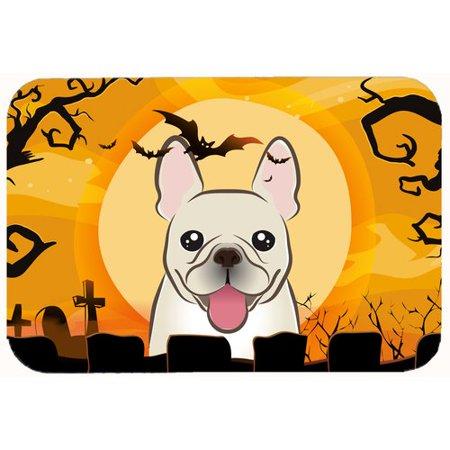 (Caroline's Treasures Halloween French Bulldog Kitchen/Bath Mat)