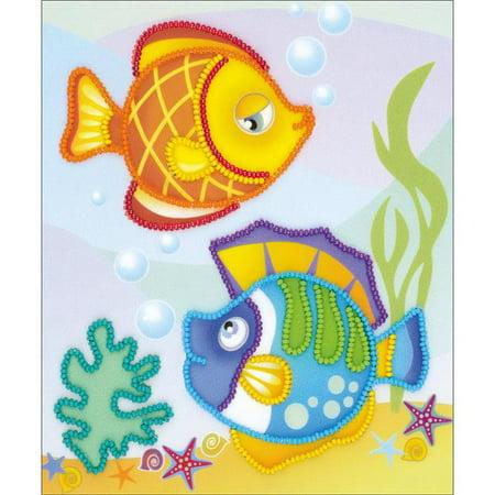 Sea Fish Stamped Cross Stitch Kit, 6