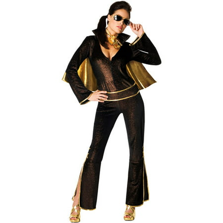 Elvis Adult Halloween Costume, Black](Elvis Costume Ideas)
