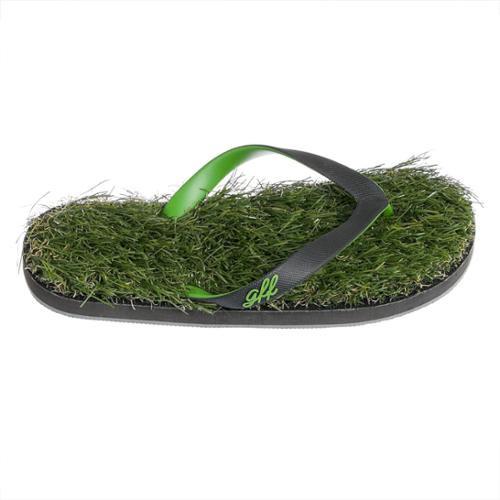 77d04fa8bf7 GFF Grass Flip Flops - Men s Faux Grass Flip-Flop Sandals - Recycled ...