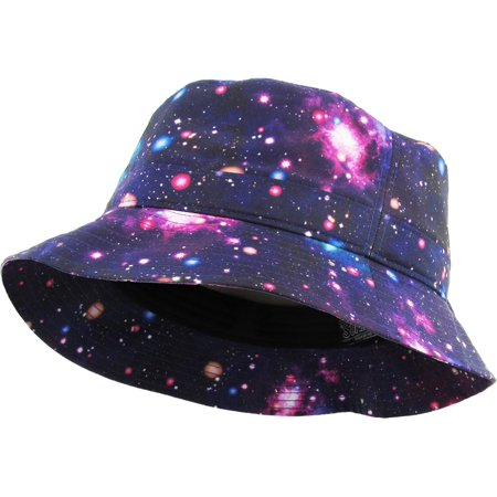 7d91affeaa915 KBETHOS - Galaxy Bucket Hat Fashion Space Print Summer Cap - Walmart.com
