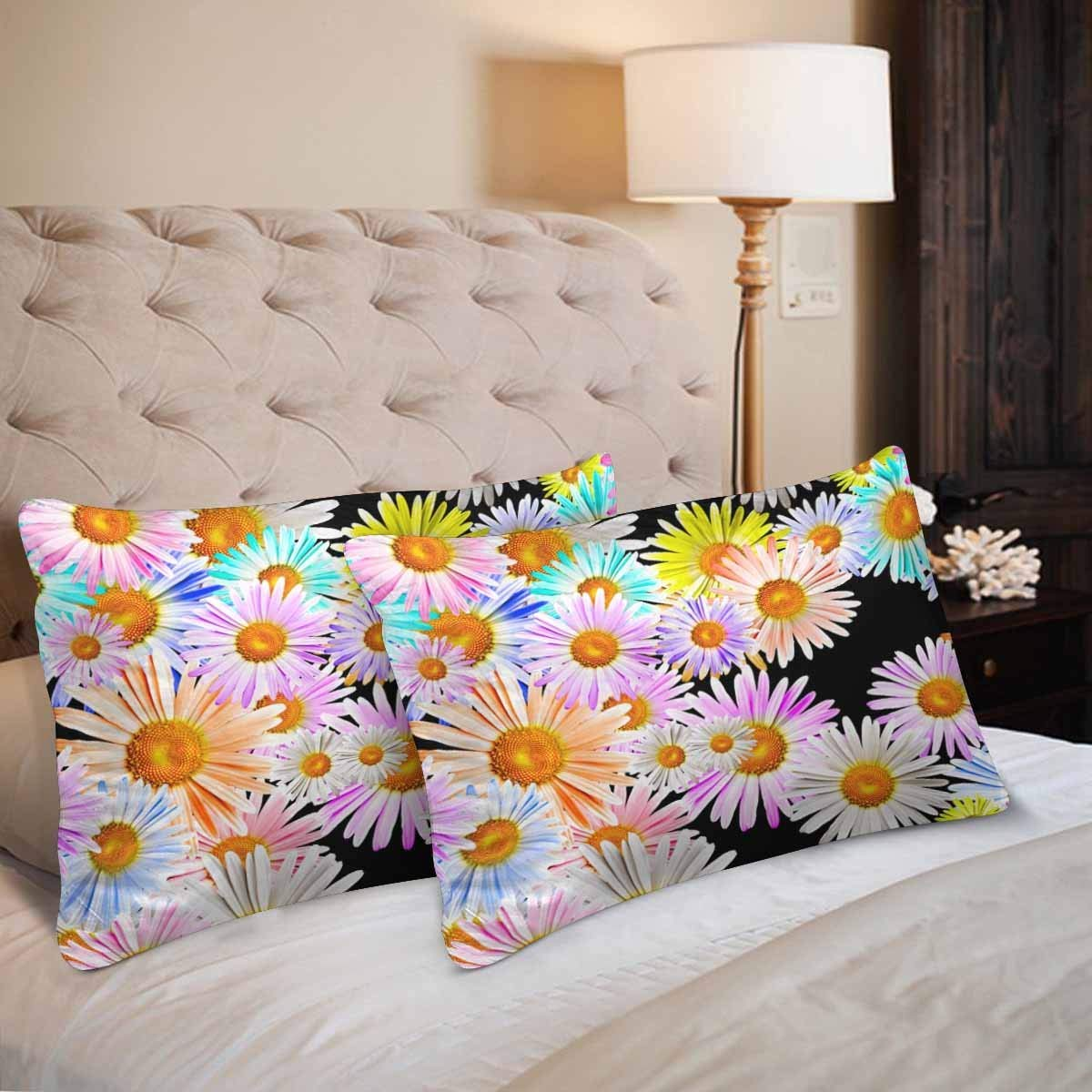 GCKG Lovely Colorful Camomiles Seamless Pattern Pillow Cases Pillowcase 20x30 inches Set of 2 - image 1 de 4
