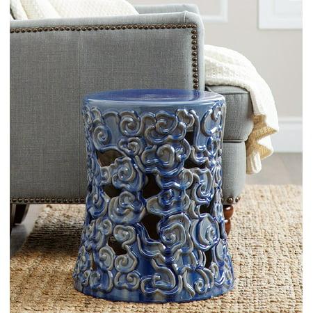 Devon and Claire Fiji Antique Ceramic Garden Stool, Multiple Colors