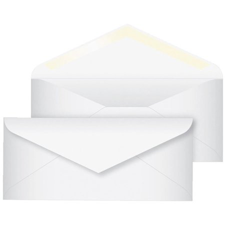 School Smart #10 Envelopes, 4-1/8 x 9-1/2 Inches, White, Pack of 500