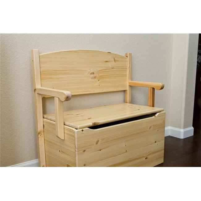 Little Colorado 017ESPHT 30 x 31 x 60 in. Bench Toy Box - Espresso with Heart Cutouts