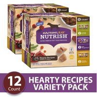 Rachael Ray Nutrish Natural Premium Wet Dog Food, Hearty Recipes Variety Pack, 8 Oz. Tub (Pack of 6)