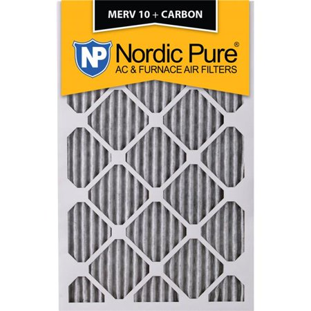 Nordic Pure 22x28x1ExactCustomM10-C-6 Exact MERV 10 Plus Carbon AC Furnace Filters, 22 x 28 x 1 in. - Pack of 6 - image 1 of 1