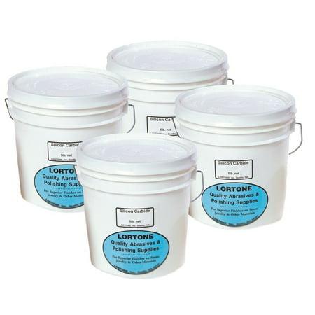 Lortone Large 4-Step Kit Includes 5 lbs. each of coarse & fine abrasives, pre-polish & polish