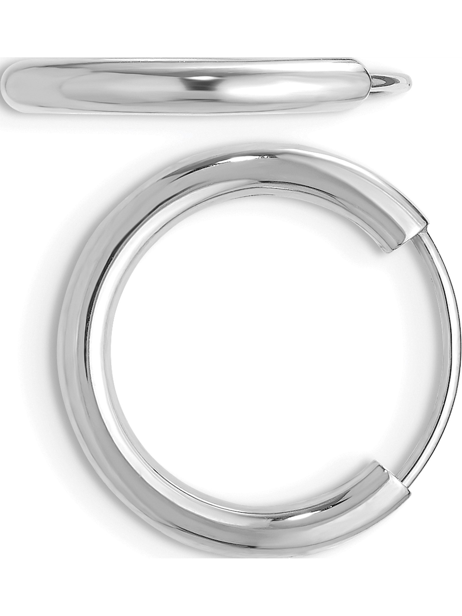 Packaging Collections Spinners Spinner Item Refills Sterling Silver Rhodium-plated 2mm Square Tube Hoop Earrings