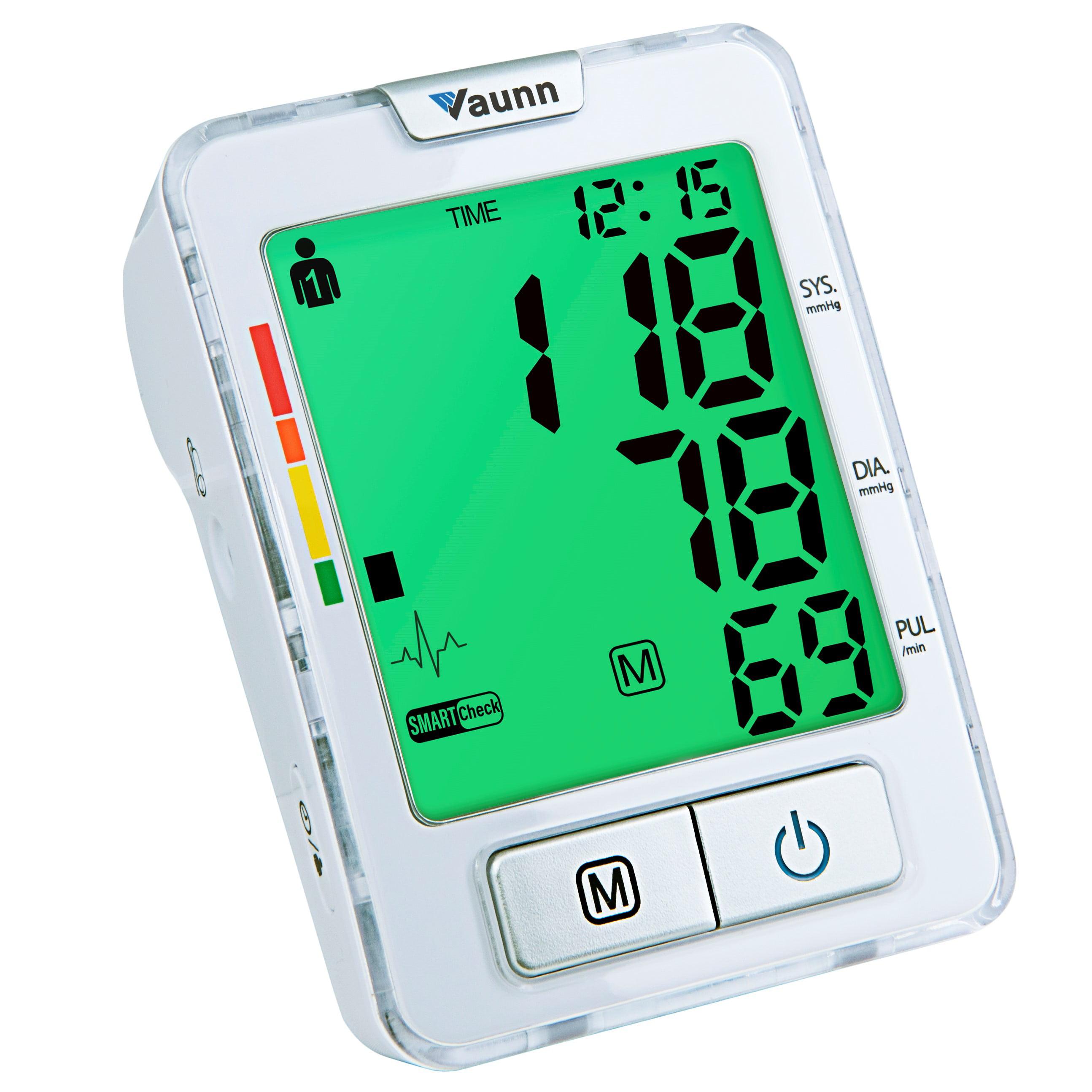Vaunn Medical Automatic Upper Arm Blood Pressure Monitor (BPM) with Cuff