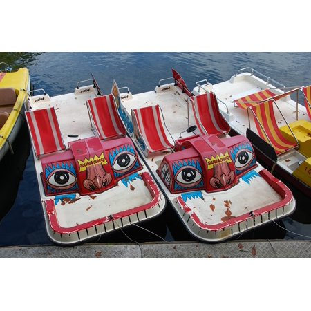 LAMINATED POSTER Water Pedal Boat Mask Face Fun Boats Fash Funny Poster Print 24 x (Funny Face Mask)