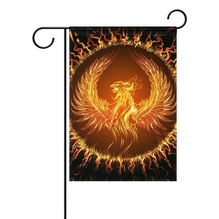 - POPCreation Phoenix Garden Flag Banner 28x40 Inches Star Stripe American Patriotic Decorative Flag for Wedding Home Outdoor Garden Decor