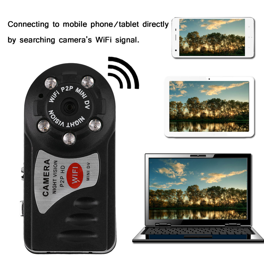 Mini Hidden Camera 720p HD Mini Wifi Camera Hidden Camera Remote View with Motion Detection
