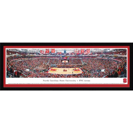 North Carolina College Basketball - North Carolina State Wolfpack Basketball at PNC Arena - Blakeway Panoramas NCAA College Print with Select Frame and Single Mat
