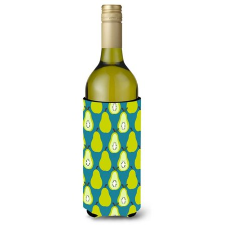 Pears on White Wine Bottle Beverge Insulator Hugger - image 1 de 1
