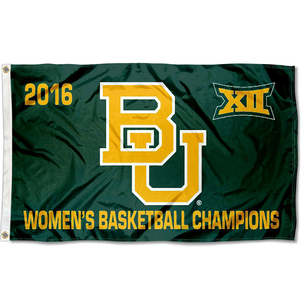Baylor Bears Big 12 Women's 2016 Champions 3' x 5' Pole Flag
