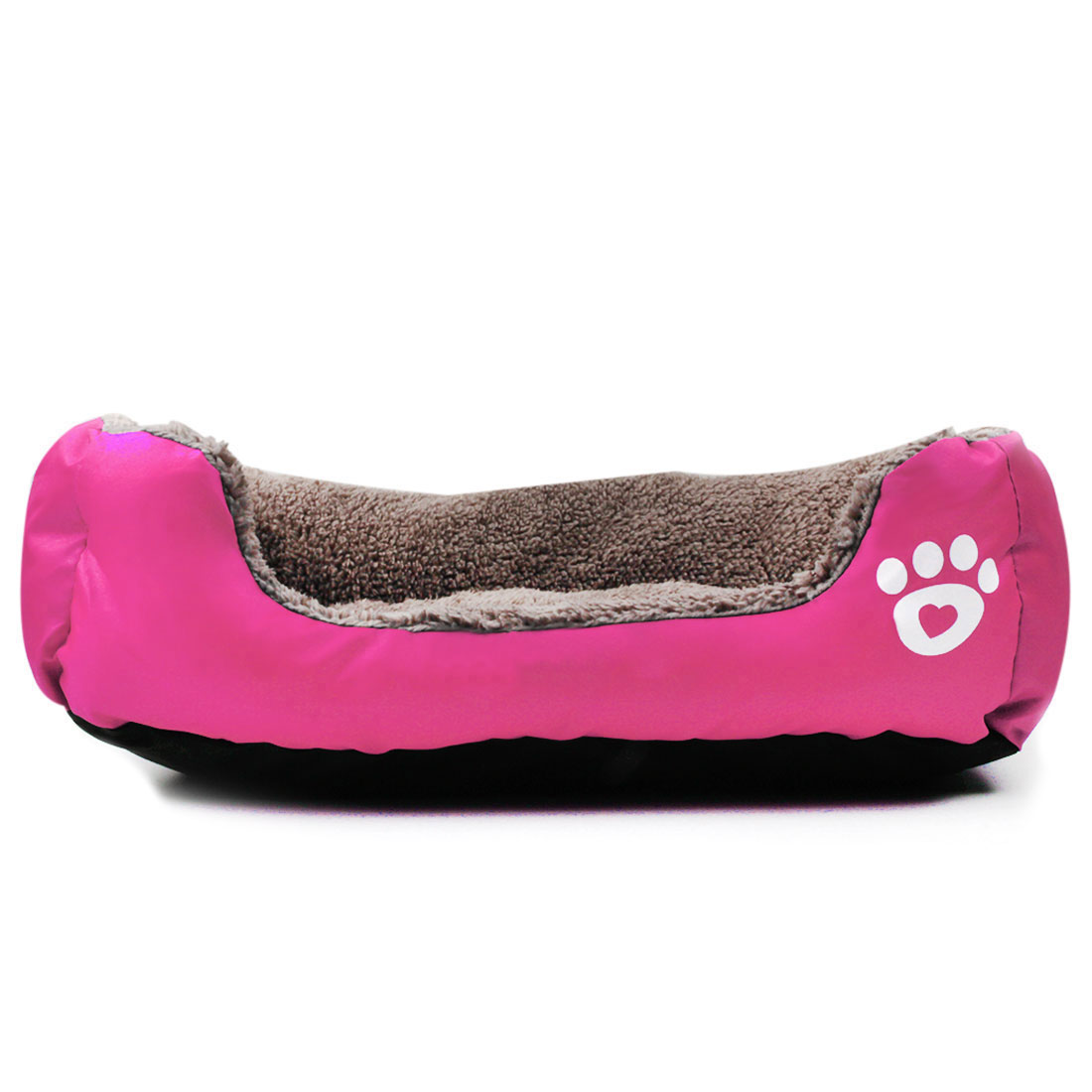 Pet Dog Bed Kennel Cat Puppy Bed Mat Pad Warm Cushion House Fuchsia, L