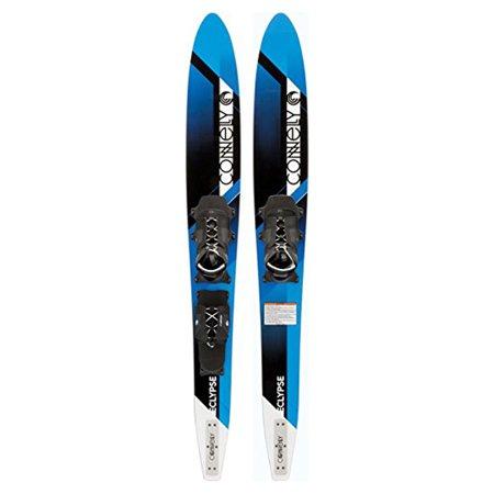 Connelly Eclypse Premier Adjustable Composite UV Coated Water Ski Pair, Blue