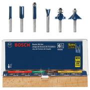 Bosch RBS006 1/4 in. Shank Carbide-Tipped Multi-Purpose 6-Piece Router Bit Set