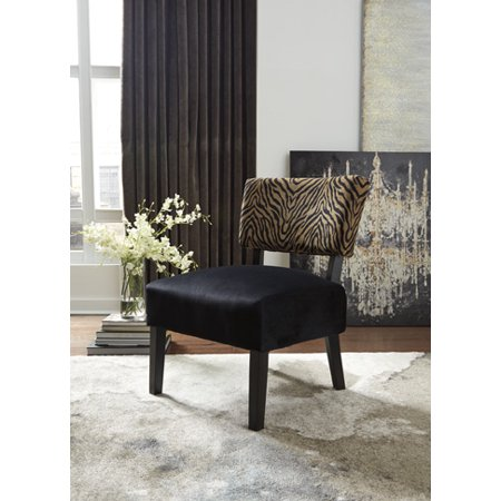 Ashley Parvin Gold/Black Accent Chair