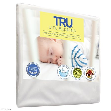 Crib Size - Mattress / Bed Cover - Premium Smooth Mattress Protector, 100% Waterproof, Hypoallergenic, Breathable Cover Protection from Dust Mites, Allergens, Bacteria, Urine - TRU Lite (Best Bedding For Dust Mite Allergies)