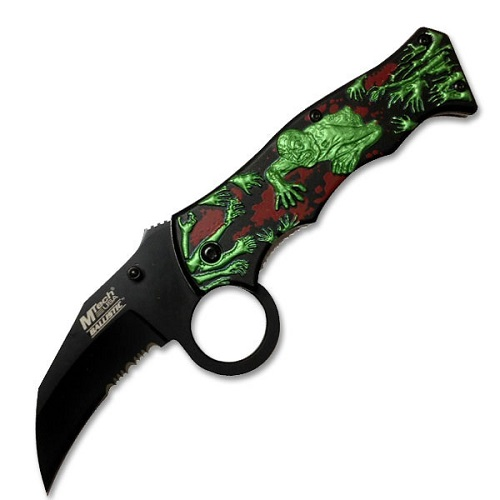 MTech MT-A813BRG Assisted Opening Knife 4.5 In Closed
