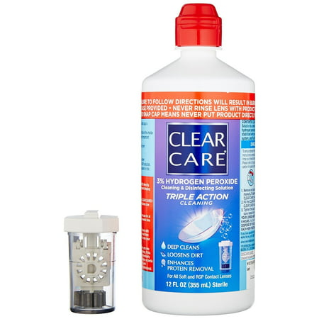 Clear Care Cleaning & Disinfection Solution-12 oz