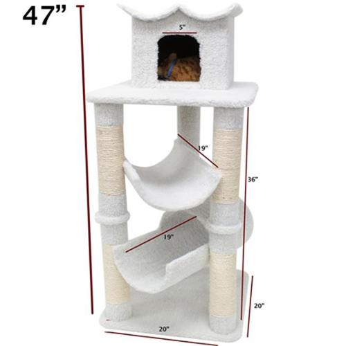 Majestic Pet Products 788995780458 47 inch Bungalow Cat Tree - Sherpa