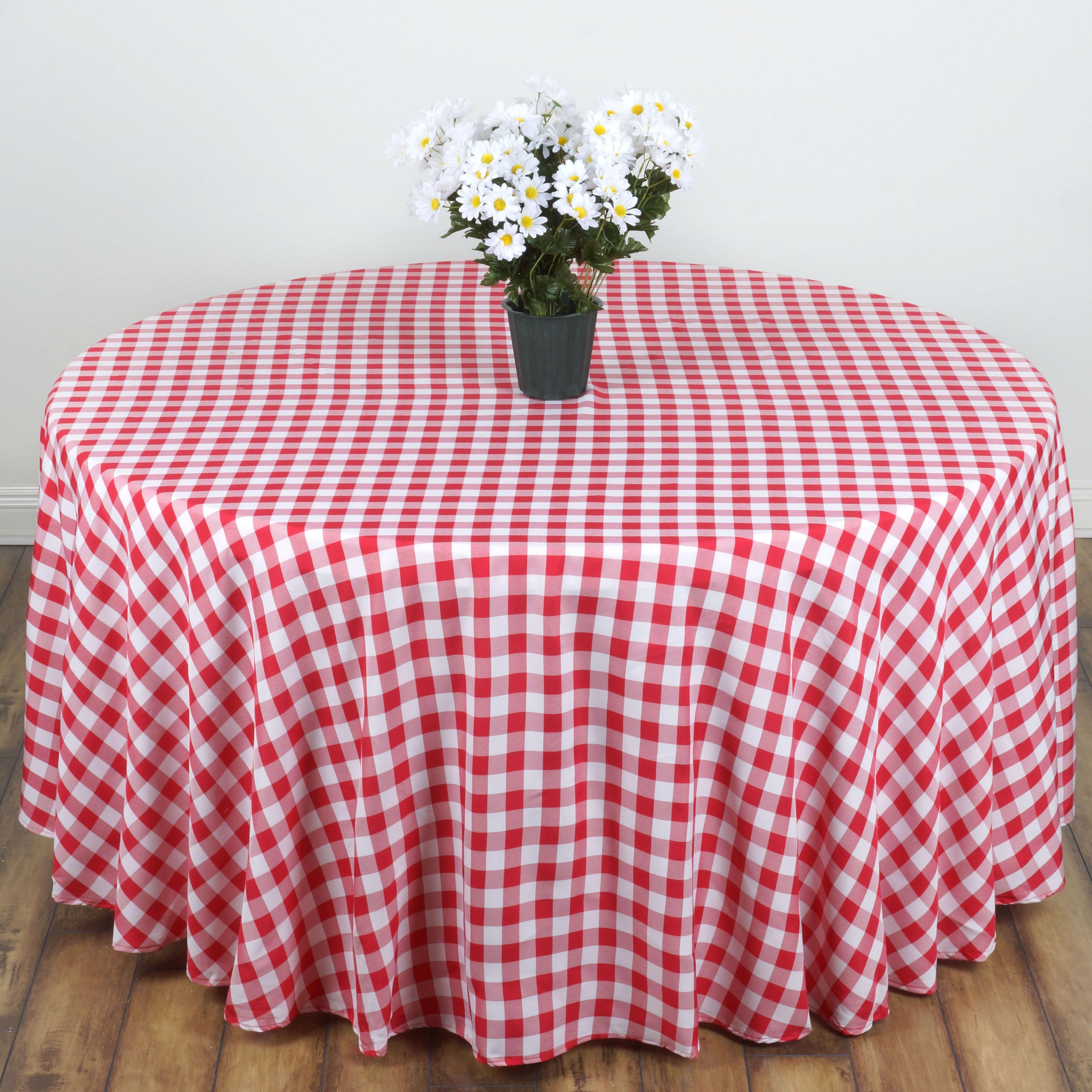 "BalsaCircle 120"" Round Gingham Checkered Polyester Tablecloth for Garden Party... by BalsaCircle"