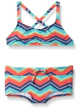 ace07accf4579 Product Image Billabong Big Girls' Ziggyland Tali Crossback Two Piece  Swimsuit, Multi, ...