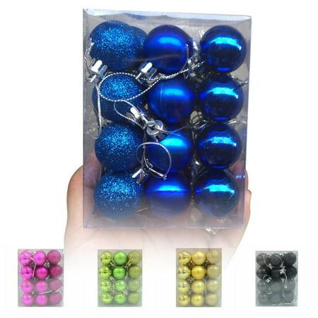 Christmas Balls Ornaments for Xmas Tree - Shatterproof Christmas Tree Decorations Large Hanging Ball Sky Blue with Irregular Ball 1.6