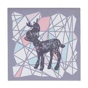 Lolli Living Sparrow Canvas Art – Deer Silhouette – Screenprint Wall Art, Sturdy Wood Frame, Easy Installation, Baby Nursery Art Frames, Medium Size
