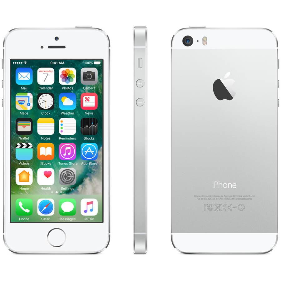Straight Talk Prepaid Apple iPhone 5S 16GB CDMA Smartphone, Refurbished