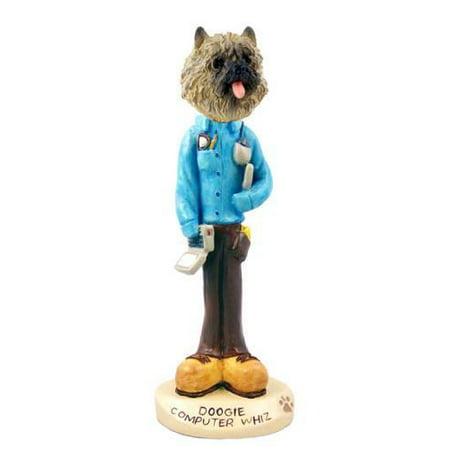 - No.Doog53B14 Cairn Terrier Red Computer Whiz Doogie Collectable Figurine